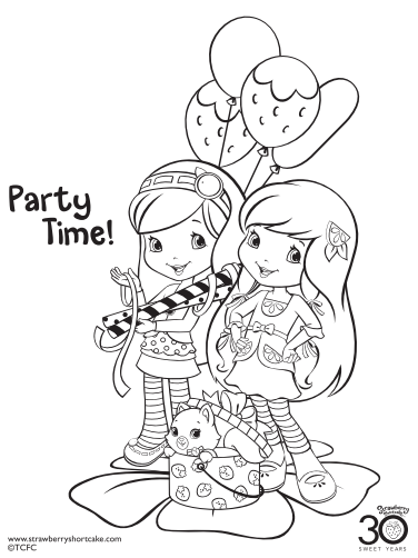 12 Strawberry Shortcake Birthday Party Printable Coloring Pages | De ...