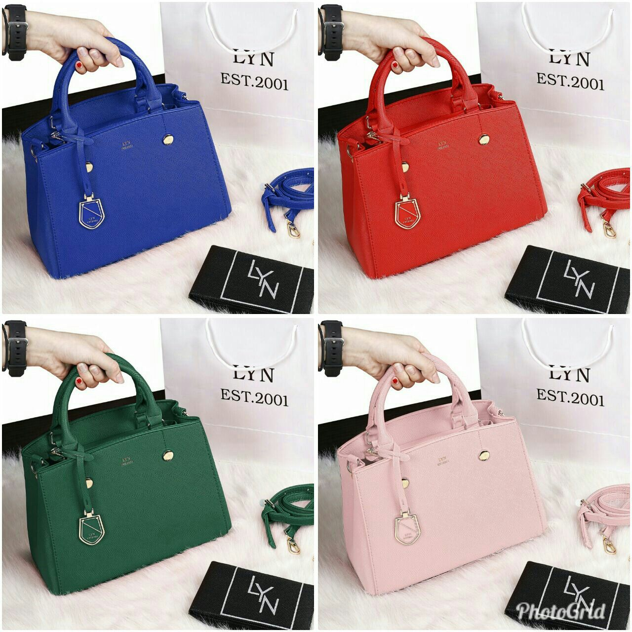 14efded1671f  LYN BAG LUCIA EDGE  618-1 Material   Taiga Leather High Quality Quality    Semi Ori Uk   25x12x20 Berat   0
