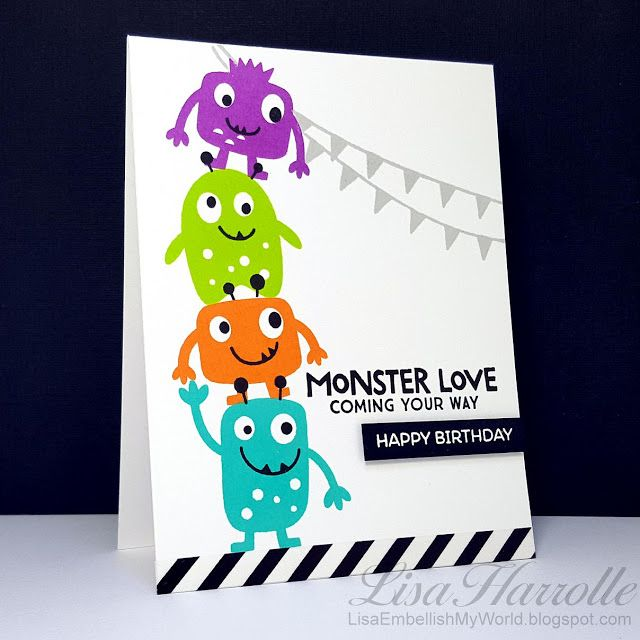 Embellish My World: A whole set of Monster Love for boys and for girls!