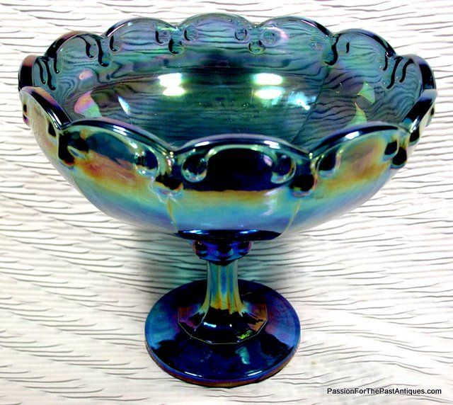 Amethyst Carnival Vintage Glass Fruit Compote [SOLD]: Passion For The Past Antiques And Collectibles - Toronto, Antiques & Vintage, Furniture, Lighting, Porcelain, Glass and Decorative Accessories
