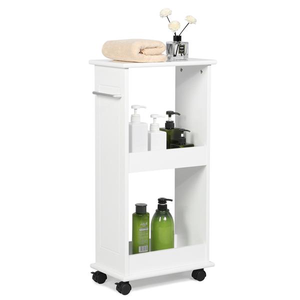 Yaheetech Mobile Storage Cart Toilet Shelf Space Saving Slim Rolling Bathroom Laundry Rack Walmart Com Bath In 2020 Slim Bathroom Storage Toilet Shelves Storage Cart