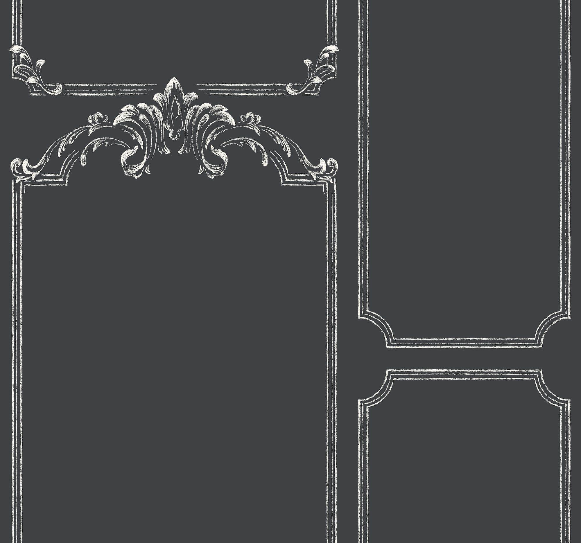 Magnolia Home Chalkboard Wallpaper Black & White