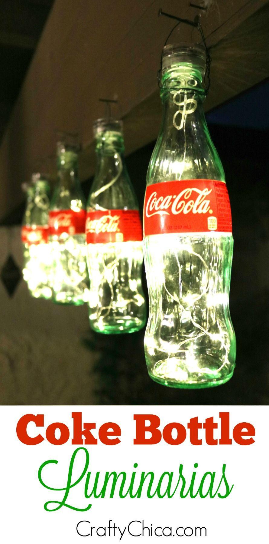 Coke Bottle Luminarias & more | Holiday! | Coke bottle ...