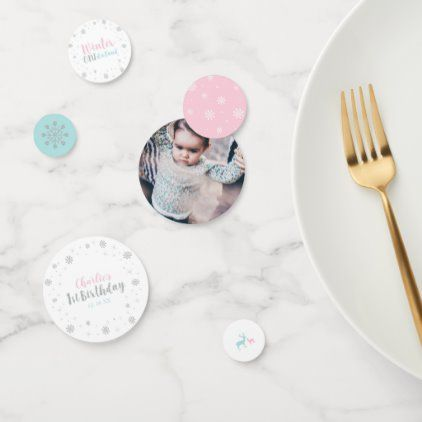 Silver, Mint & Pink Winter Wonderland 1st Birthday