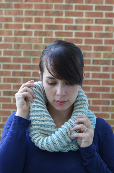 Breezy Brioche Cowl Learn To Knit Two Color Brioche With This