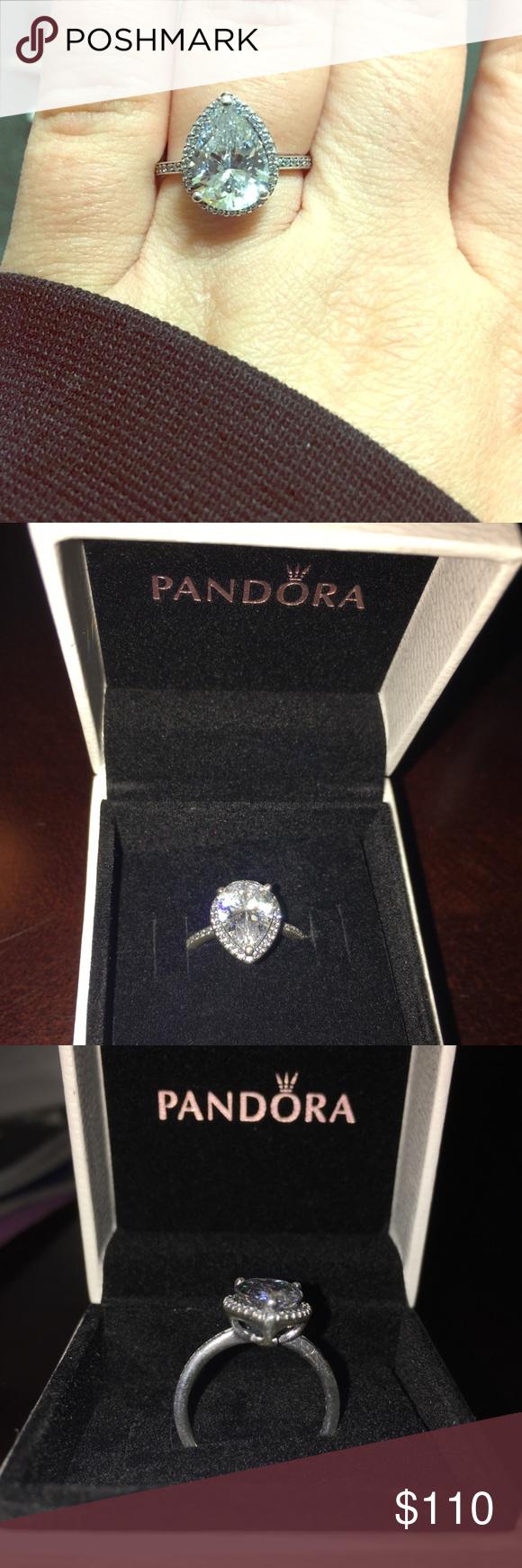 Pandora Radiant teardrop ring size 6 Brand new, it's too loose on ...