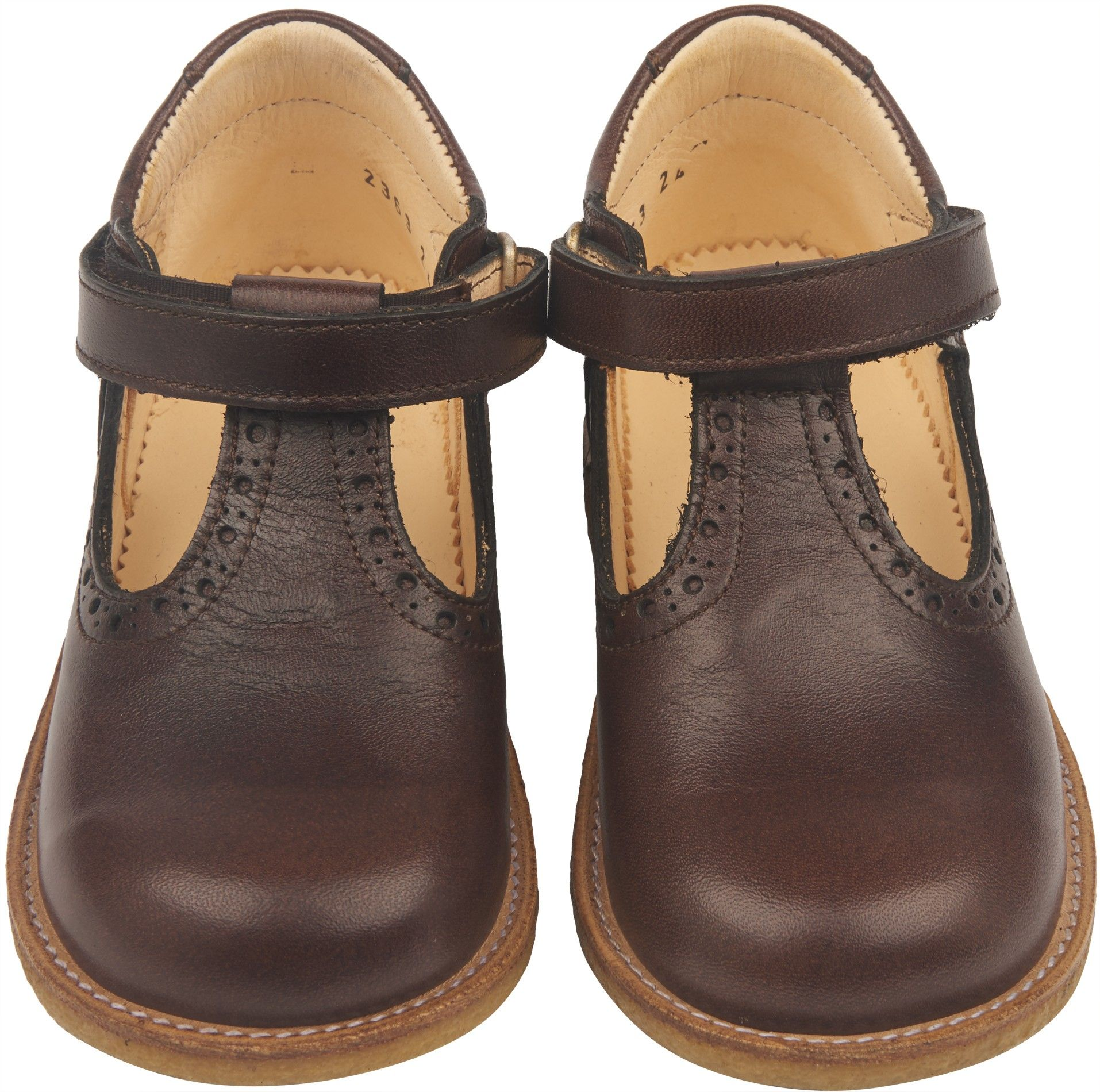SALE NOW ON Shop The Angulus Girls T Bar Baby Shoes In Brown
