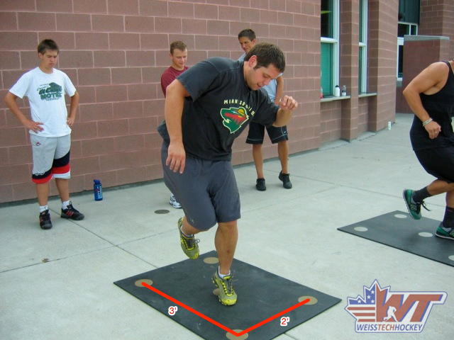 Hockey Drills Off Ice Agility Drill Hockey Training Hockey Drills Hockey Kids