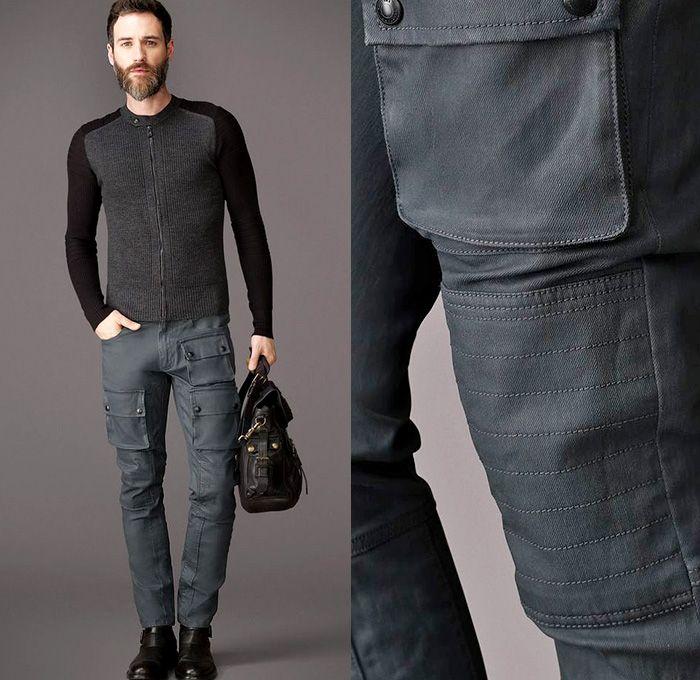 1fa3224dd0 Belstaff England Mens Devonport Jeans Resin Coated 10 Oz Denim Waxed Finish  Signature Bellows Cargo Pockets