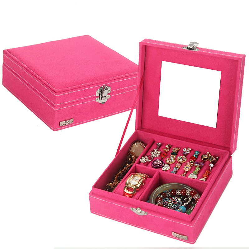 New Fashion 2017 Simple Fabric Jewelry display box for women pure