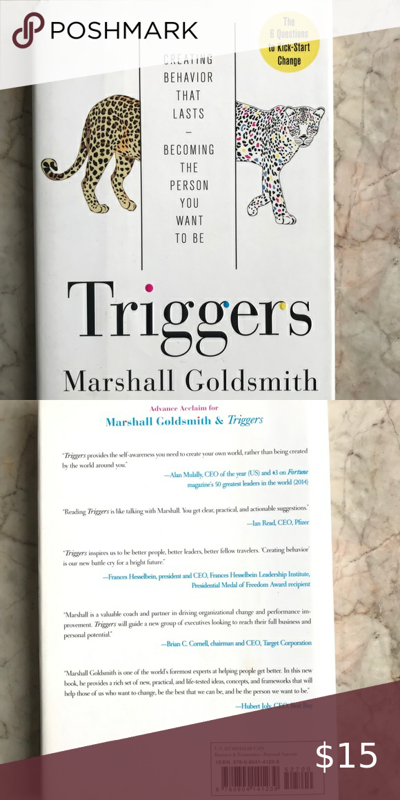 Triggers By Marshall Goldsmith Hardcover Triggers By Marshall Goldsmith Hardcover Business Econ Marshall Goldsmith Self Help Book Business And Economics