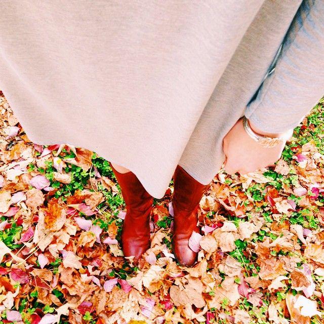 Swing Dress + Riding Boots
