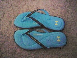 Memory foam flip flops