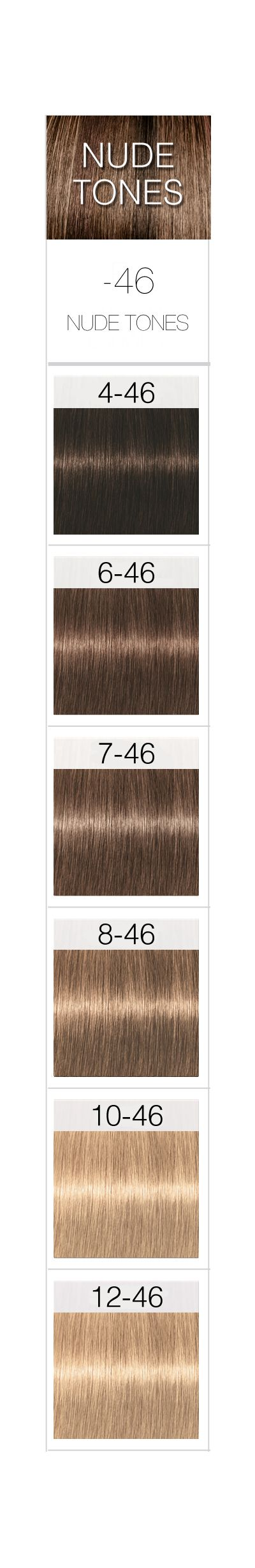 Nuancier Couleur Chocolat avec schwarzkopf professional igora royal permanent color creme nude