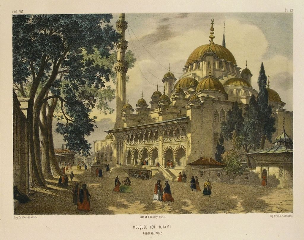Ottoman Empire Paintings MOSQUEE YENI - DJIAMI,...