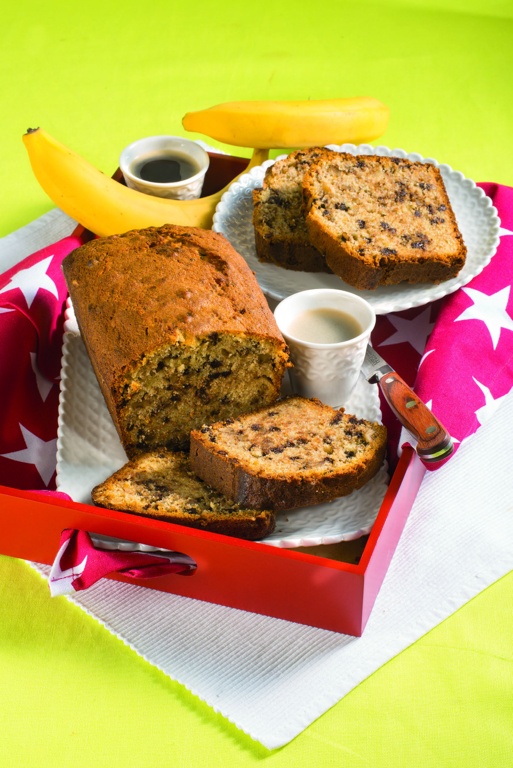 Photo of Plumcake con banane, noci e gocce di cioccolato