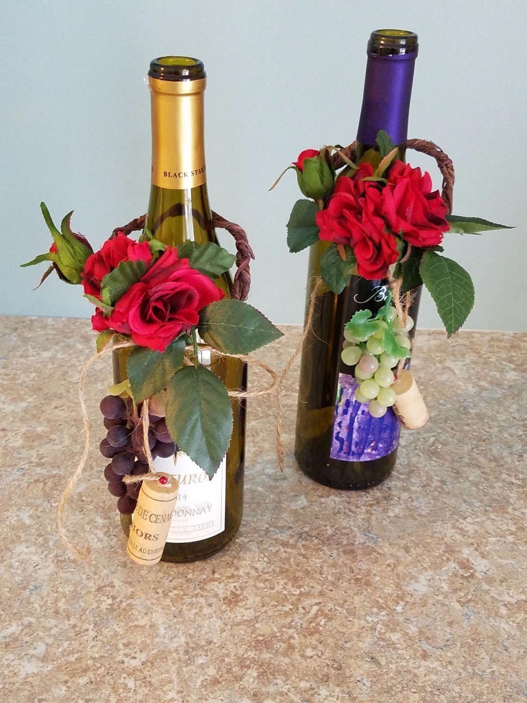 Idea by Jillian G. on Dec Weekend Party | Wine bottle topper ...