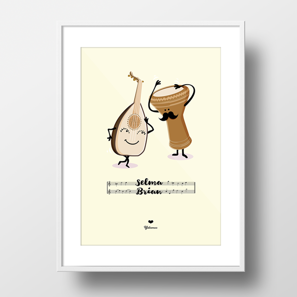 Yislamoo personalized gifts framed print made for each other