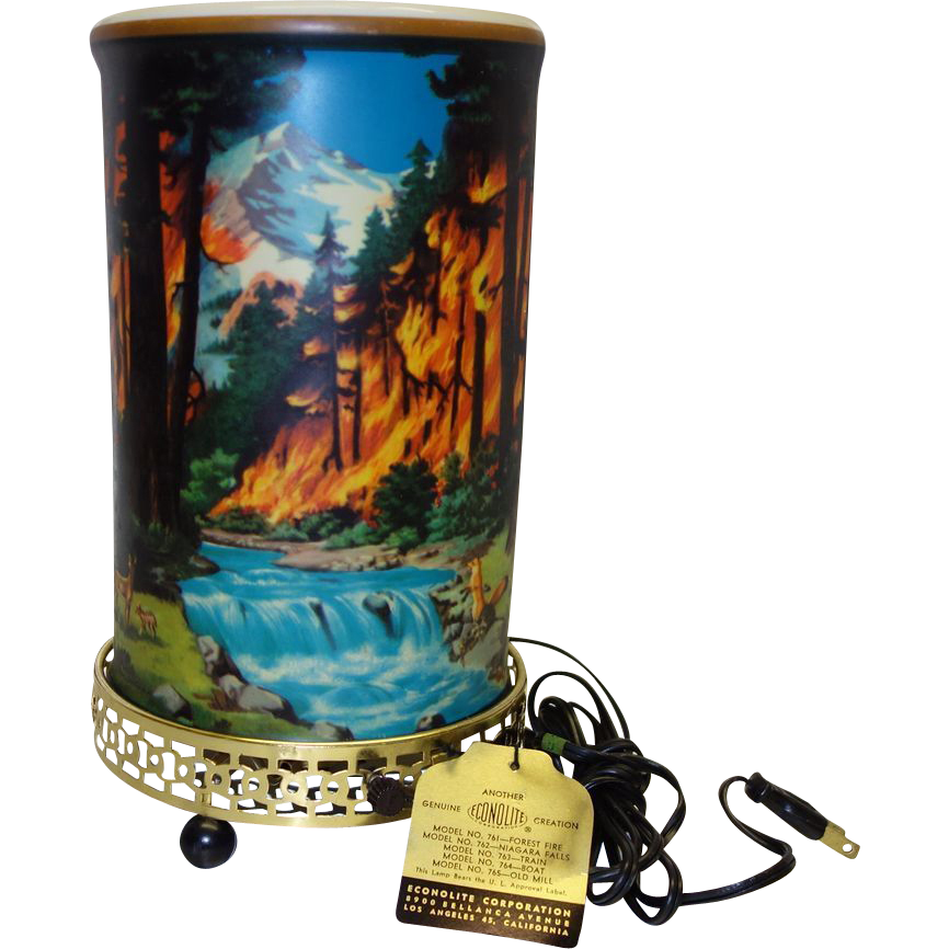 Vintage Original Boxed Econolite Motion Lamp 761 Forest Fire Rare Deadstock Vintage Lamps Vintage Retro Vintage