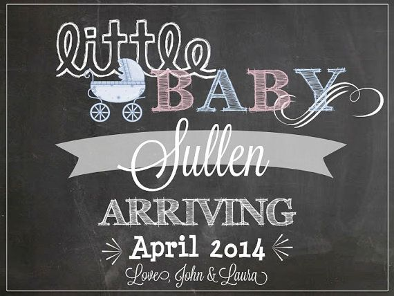 Sweet & Cute Pregnancy Announcement via LCO Design & Paperie on Etsy!