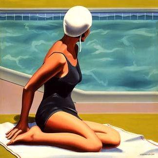 Swim Party Exhibition Poster Swim Party Kenton