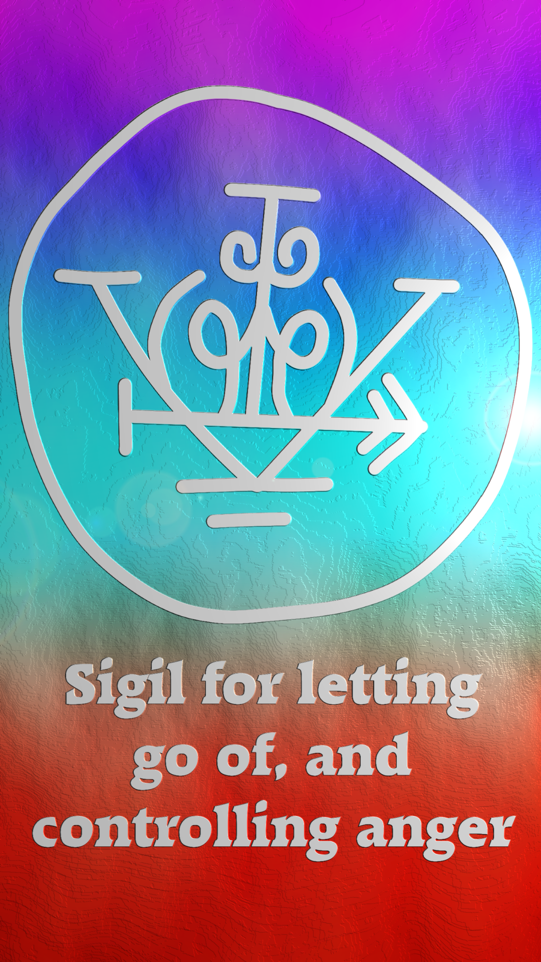 Sigil For Letting Go Of And Controlling Anger Samhain Halloween