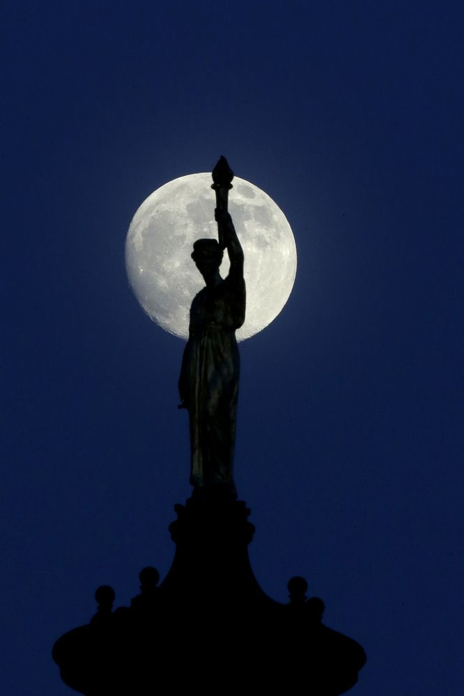 'Supermoon'  6-23-2013 Bergen County Courthouse in Hackensack, N.J.,