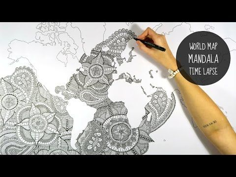 World map mandala speed drawing youtube art and beautiful world map mandala speed drawing youtube gumiabroncs Images