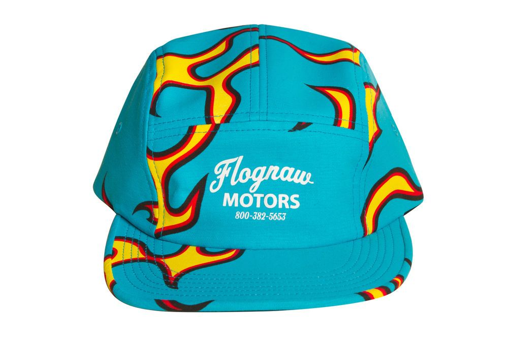 3629b1811437 Golf Wang Odd Future FLOGNAW MOTORS FLAME CAMP HAT BLUE