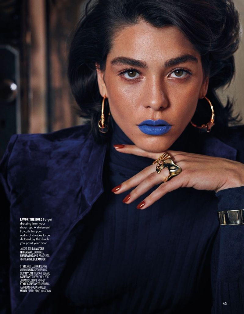 976762606 Steffy Argelich Poses in Glam Makeup Looks for Vogue Arabia ...