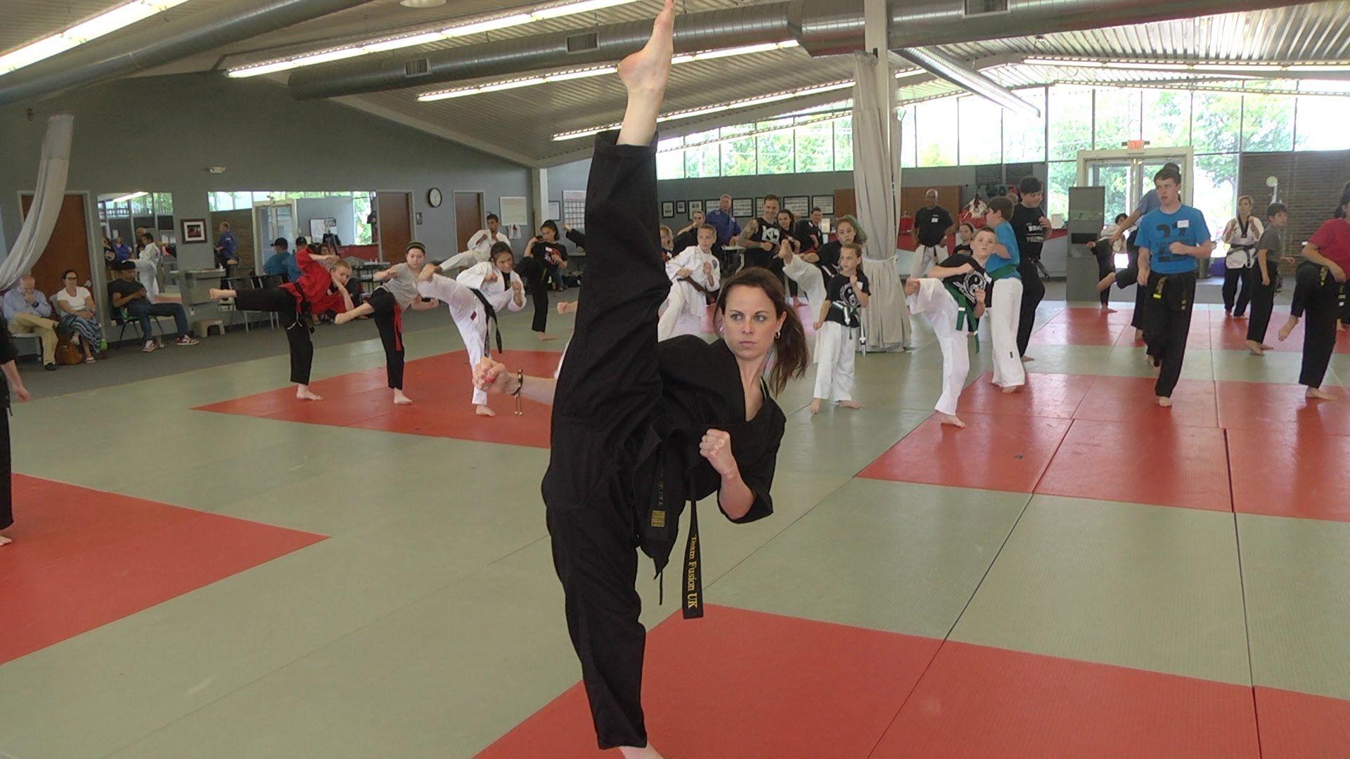 Chloe and grace bruce extream kicking seminar at