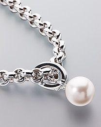 Pfeffinger Silber-Collier mit Perle