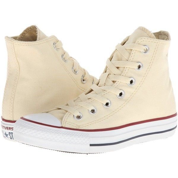 48cd2b15c83b Converse Chuck Taylor(r) All Star(r) Core Hi (Natural White) Classic...  ( 55) ❤ liked on Polyvore featuring shoes