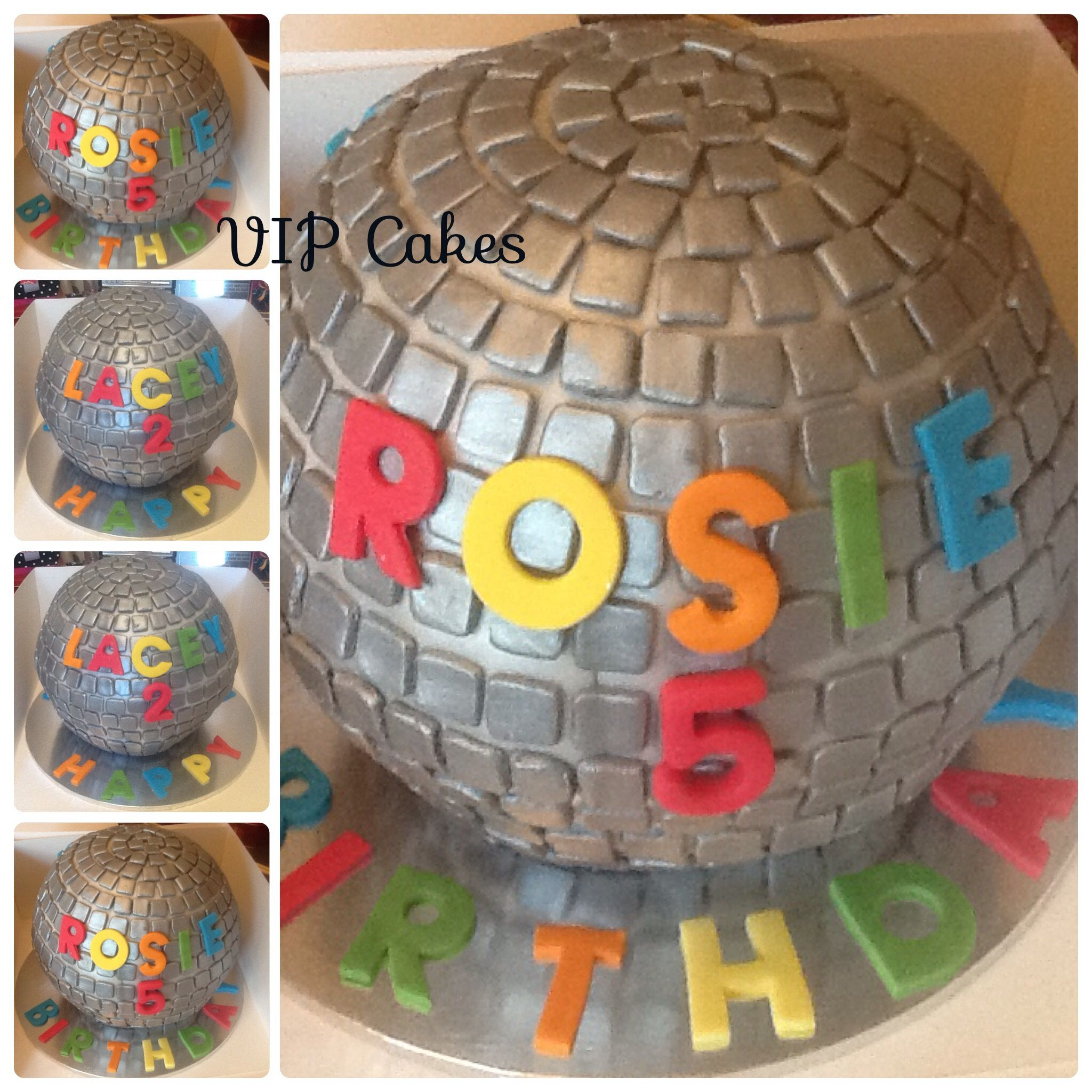 Disco Ball Cake Topper Nz