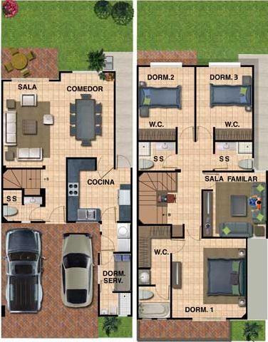 Plano de casa para terreno de 8 x 16 planos para casas for Diseno de apartamento de 4x8 mts