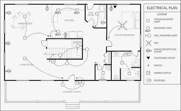Electrical Drawing Blueprints Electrical Layout Electrical Plan Floor Plan Drawing