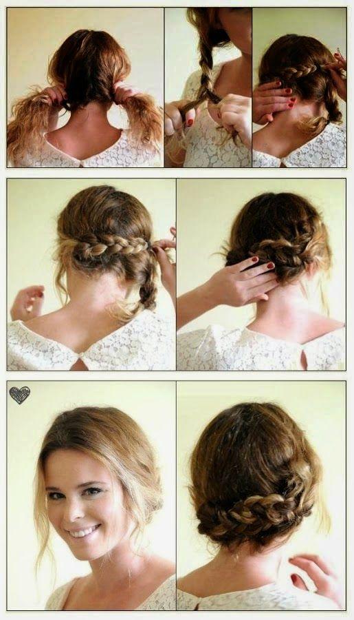 imgenes de peinados sencillos y prcticos muy fcil de hacer paso a paso descargar