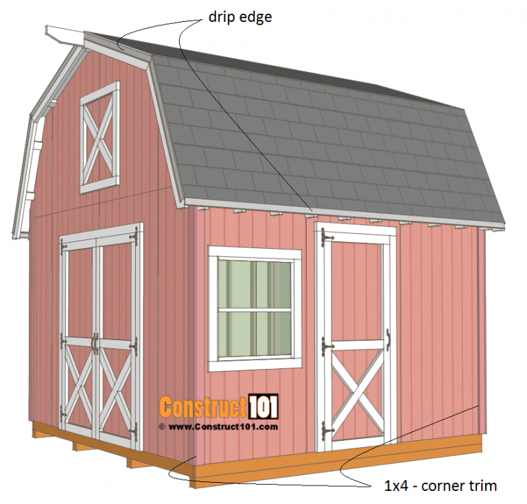 12x12 Barn Shed Plans With Overhang Free Pdf Building A Shed Barns Sheds Shed Plans