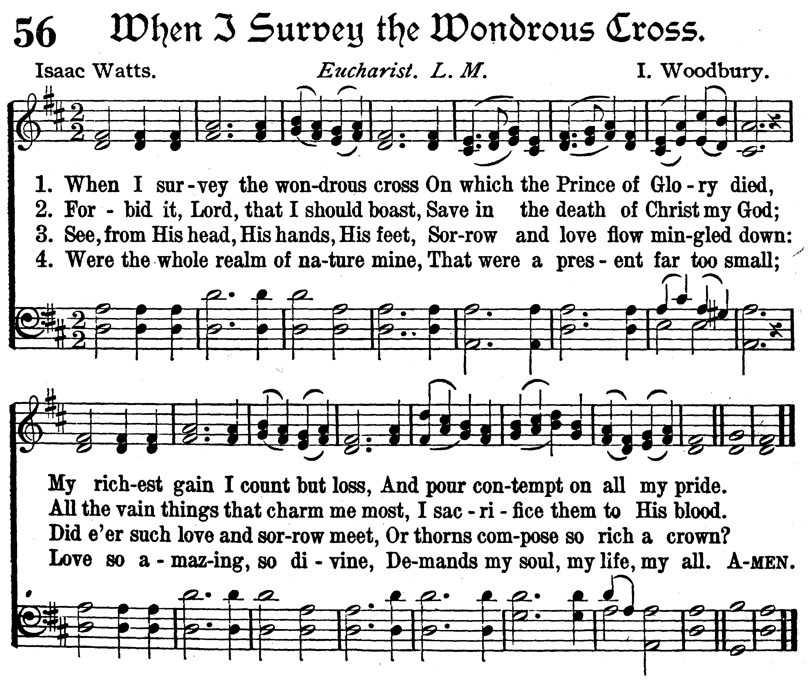When I Survey The Wonderful Cross Lyrics