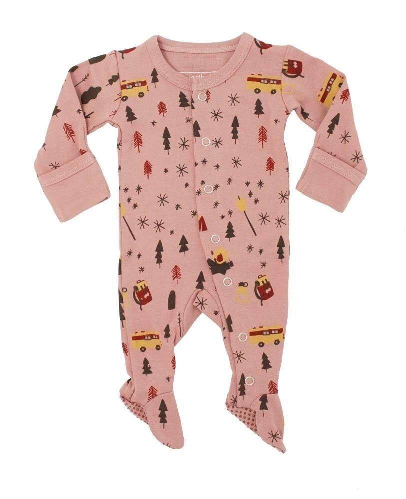 L Ovedbaby Organic Footed Overall Mauve Camp Cheap Kids Clothes