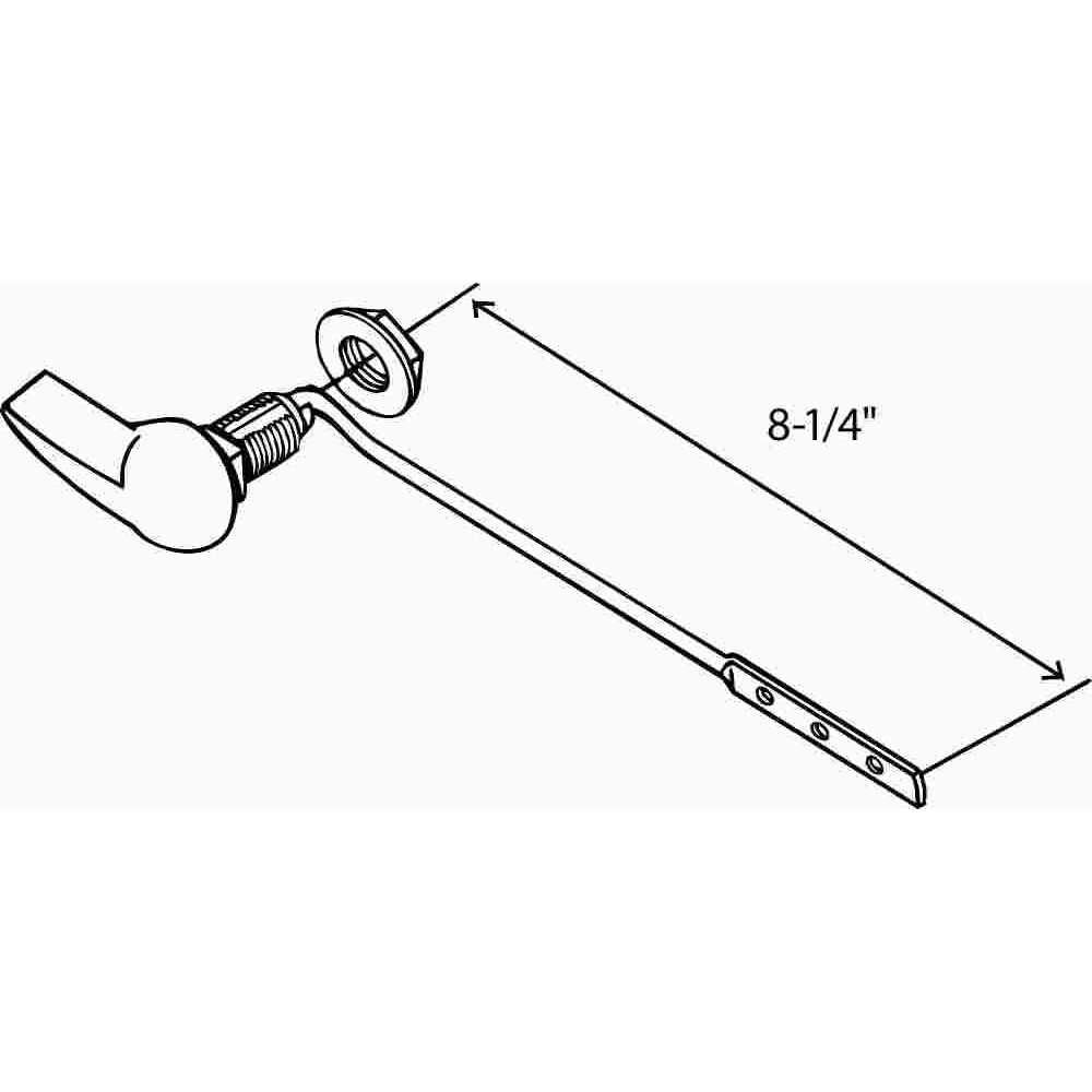 Universal Toilet Tank Lever With Plastic Spud And Nut 8 Inch Toilet