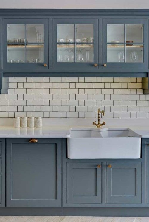 i like how the dark grout ties the look together. | home sweet