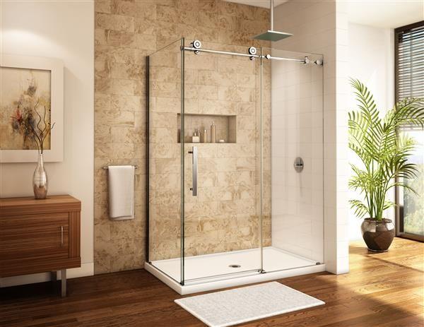 Fleurco | Glass shower doors | Kinetik KR In line 2 sides | Fleurco ...