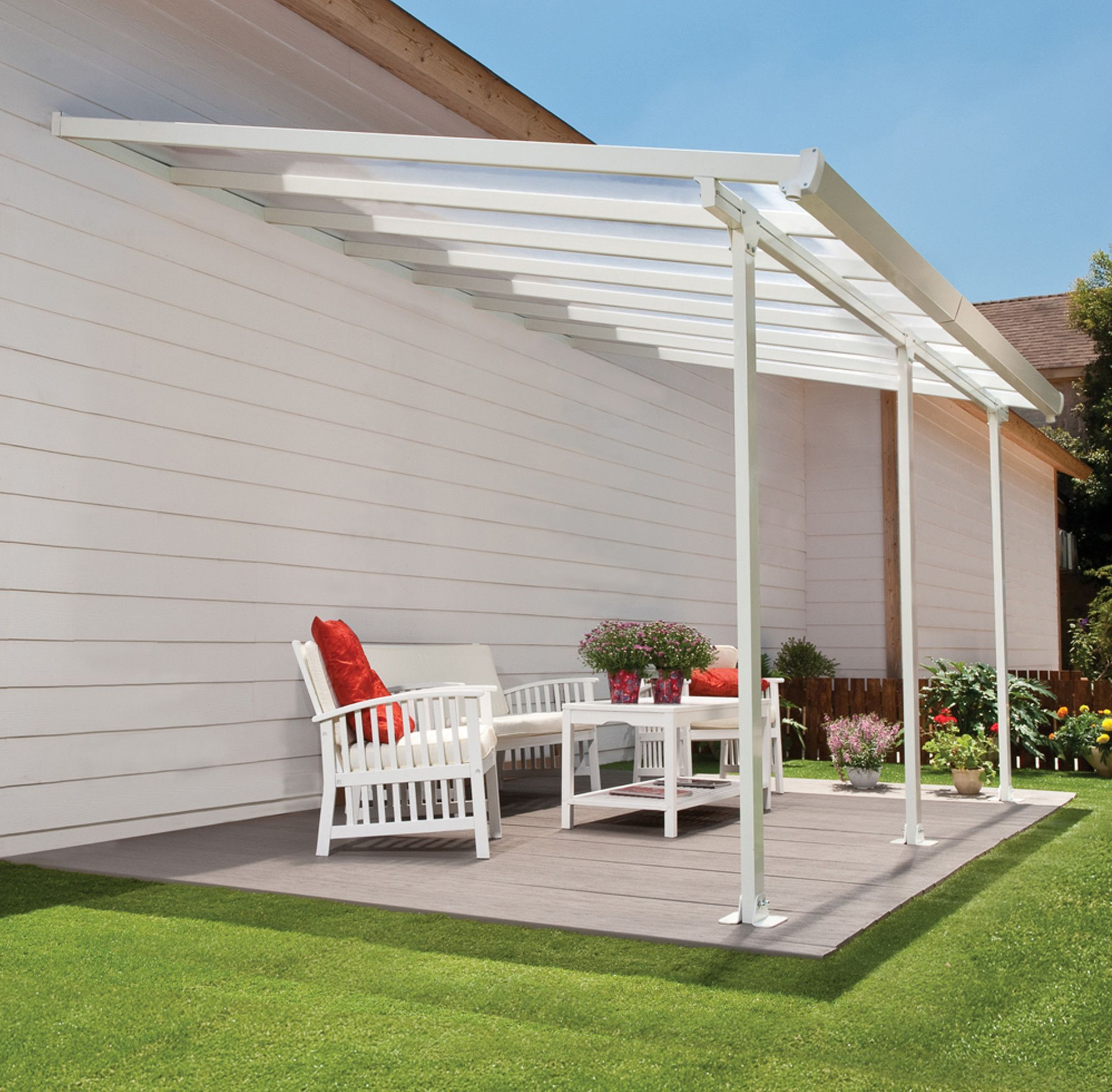 Feria™ 10 ft H x 26 ft W x 13 ft D Patio Cover Awning