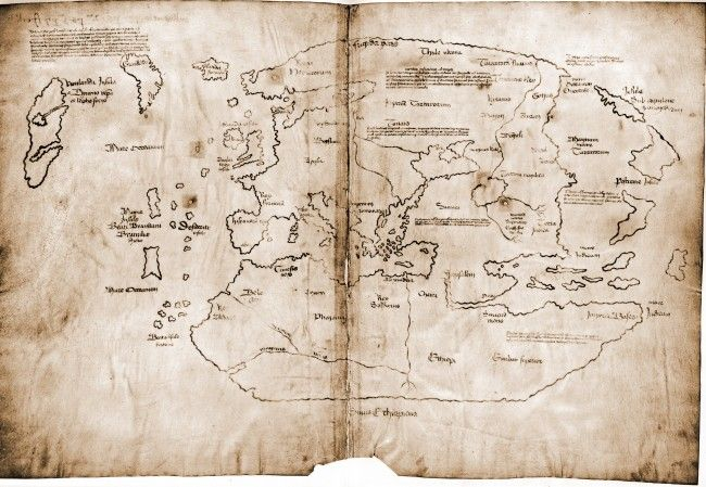 Scholars are not sure if this is genuine map from the 15th century, as it was only revealed to the public in 1965 under somewhat suspicious ...