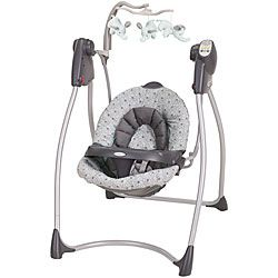@Overstock.com - This sweet Circa Lovin' Hug swing by Graco features a four position reclining seat for baby's ultimate comfort. The swing also features an engaging mobile with plush toys to provide entertainment and sensory development.http://www.overstock.com/Baby/Graco-Lovin-Hug-Swing-in-Circa/6264882/product.html?CID=214117 $94.99
