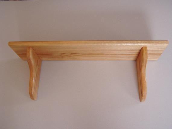 24 Inch X 8 Inch Deep Wall Shelf Wood Display