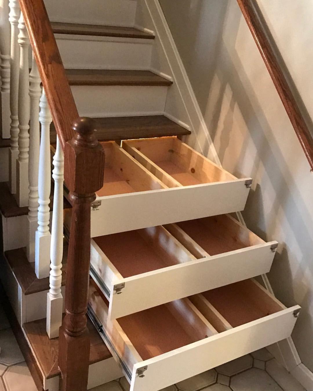 Pin By Mackenzie Jones On Home Irl Stair Storage Staircase