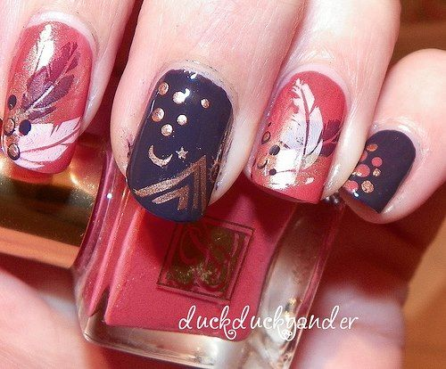 Pin By Snicky Chang On Nails Pinterest Feather Design