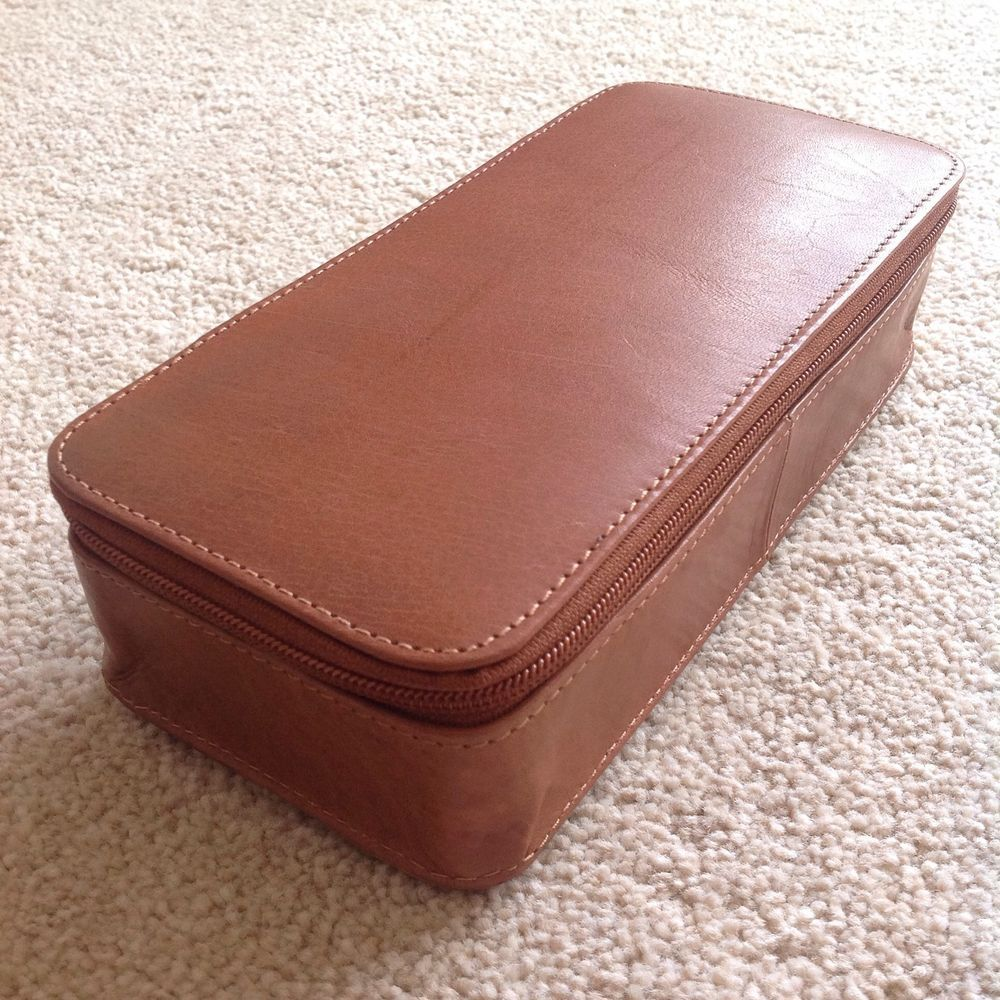 Genuine handmade large leather pencil caseartists case